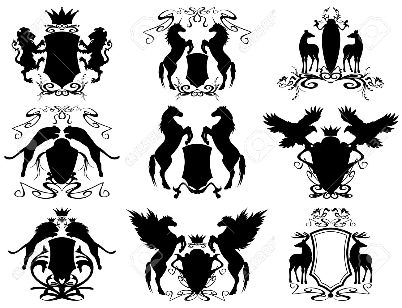 11,716 Heraldic Animal Stock Illustrations, Cliparts And Royalty.