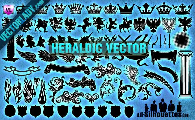 Heraldic Vector Clipart.