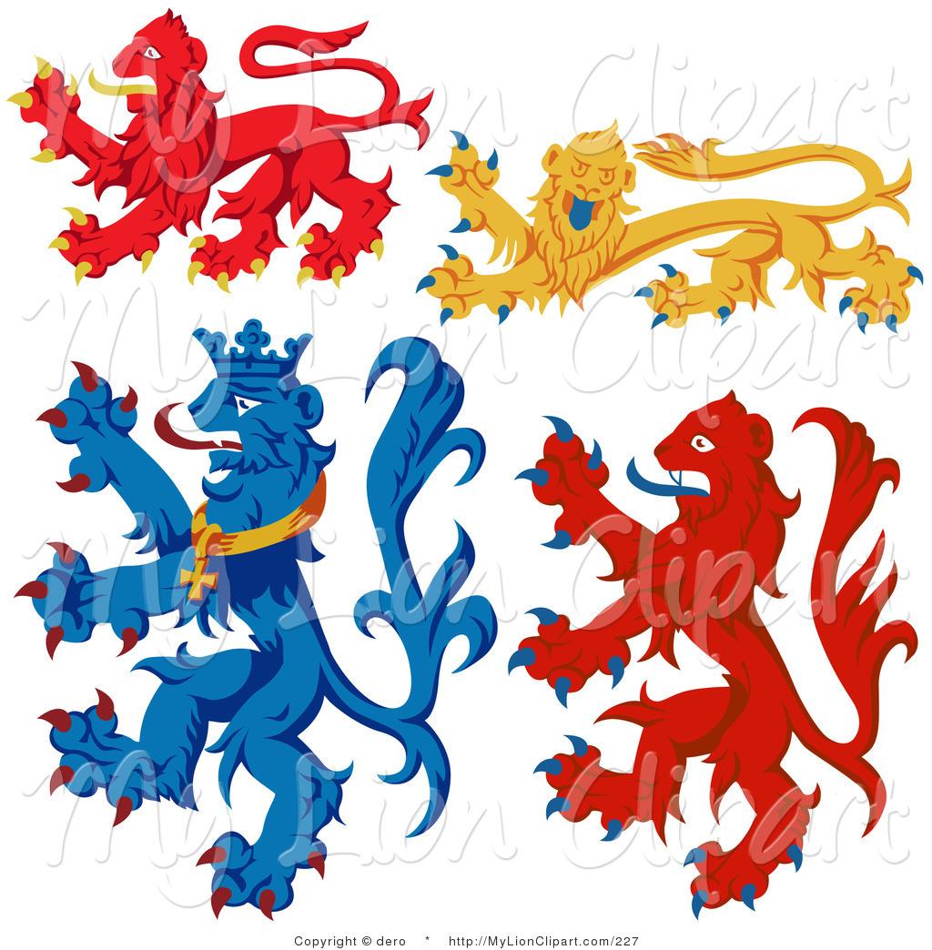 Animal heraldry clipart.