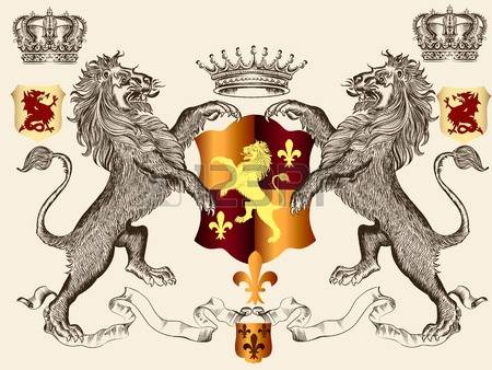 6,330 Heraldry Animal Stock Vector Illustration And Royalty Free.