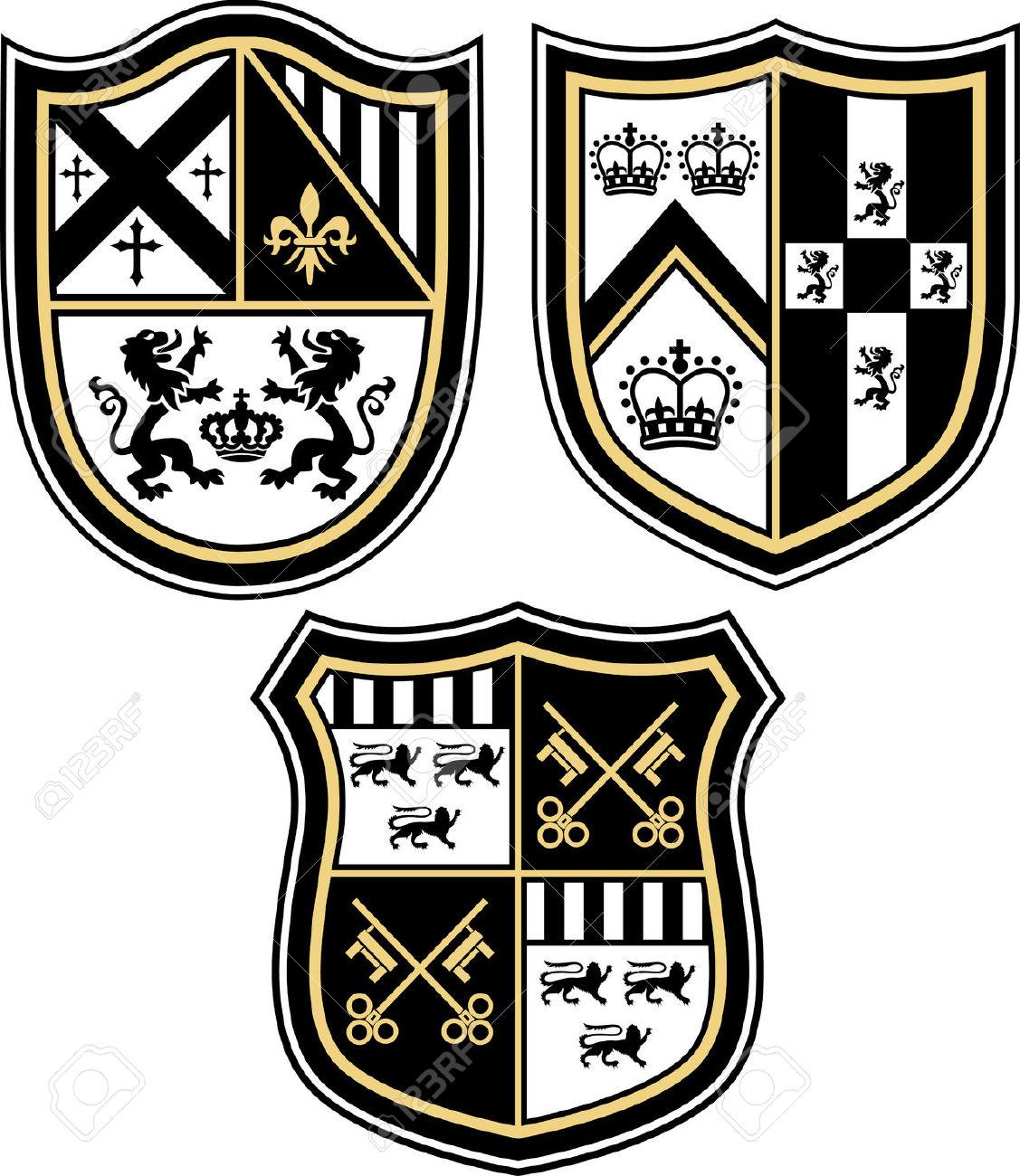 Heraldic Emblem Badge Shield Royalty Free Cliparts, Vectors, And.