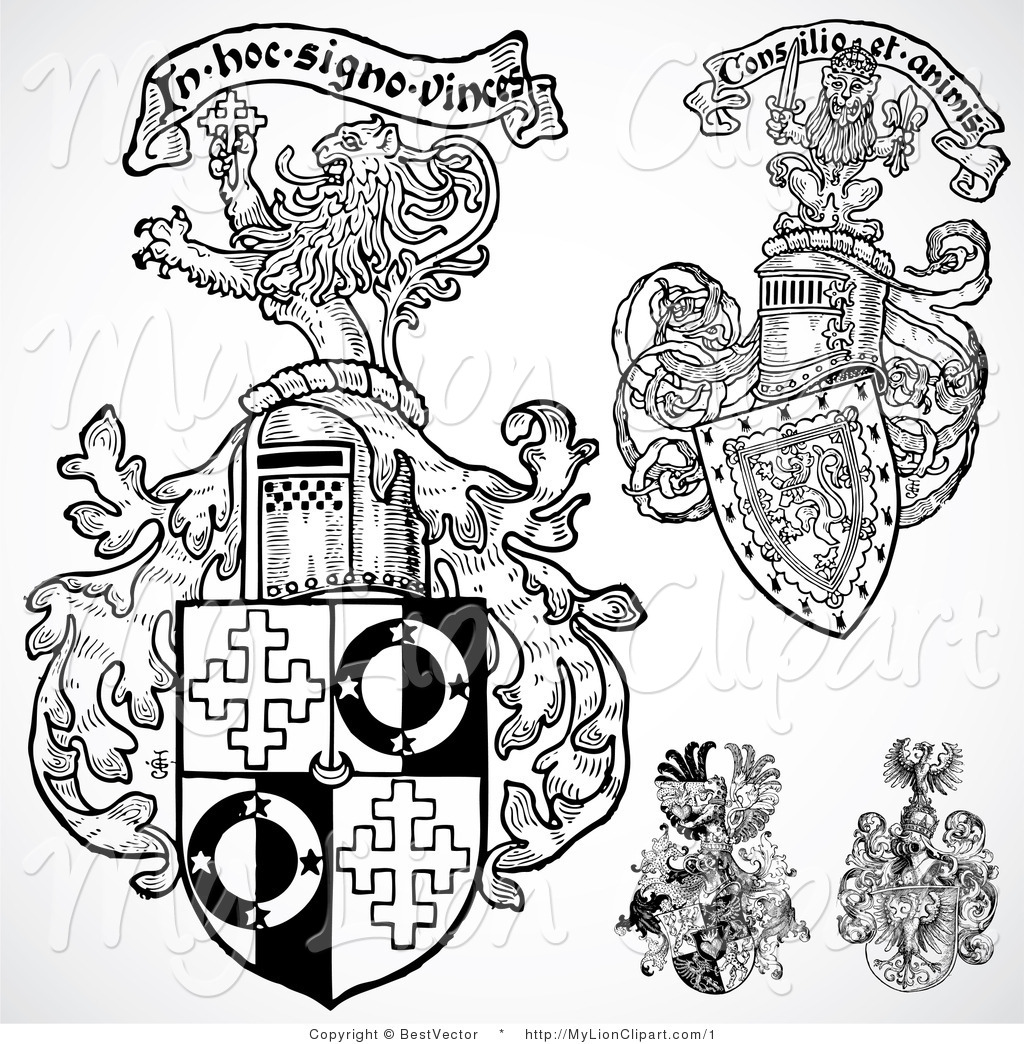 Royalty Free Shield Stock Lion Designs.