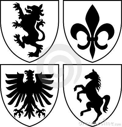 Heraldry Symbols Clip Art.