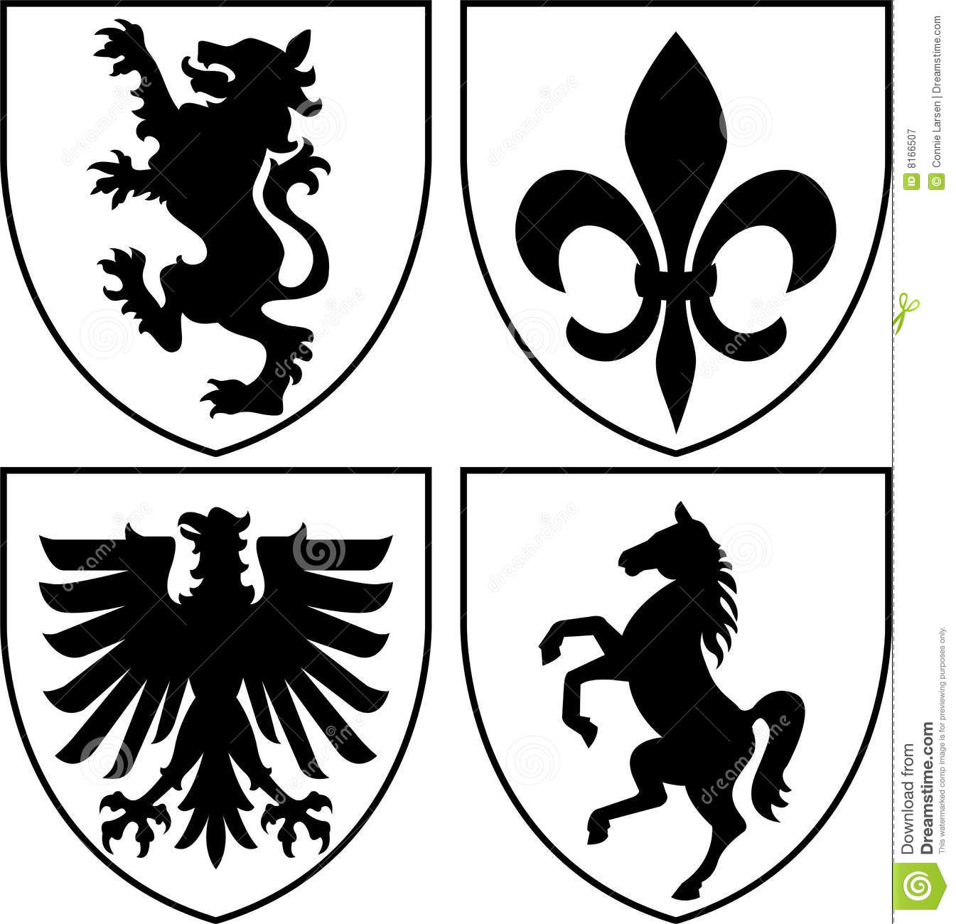 Heraldic Crests/Coat Of Arms Eps Royalty Free Stock Photography.