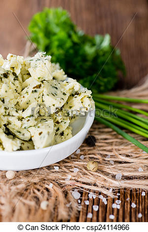 Stock Image of Herb Butter in a bowl.