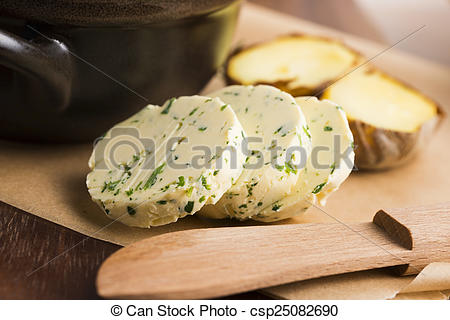 Stock Photographs of herbs butter csp25082690.