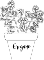 Free Black and White Plants Outline Clipart.