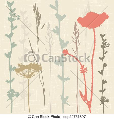 Vector Clipart of herbage.