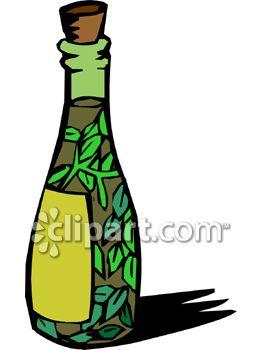 Bottle of Herb Infused Olive Oil.