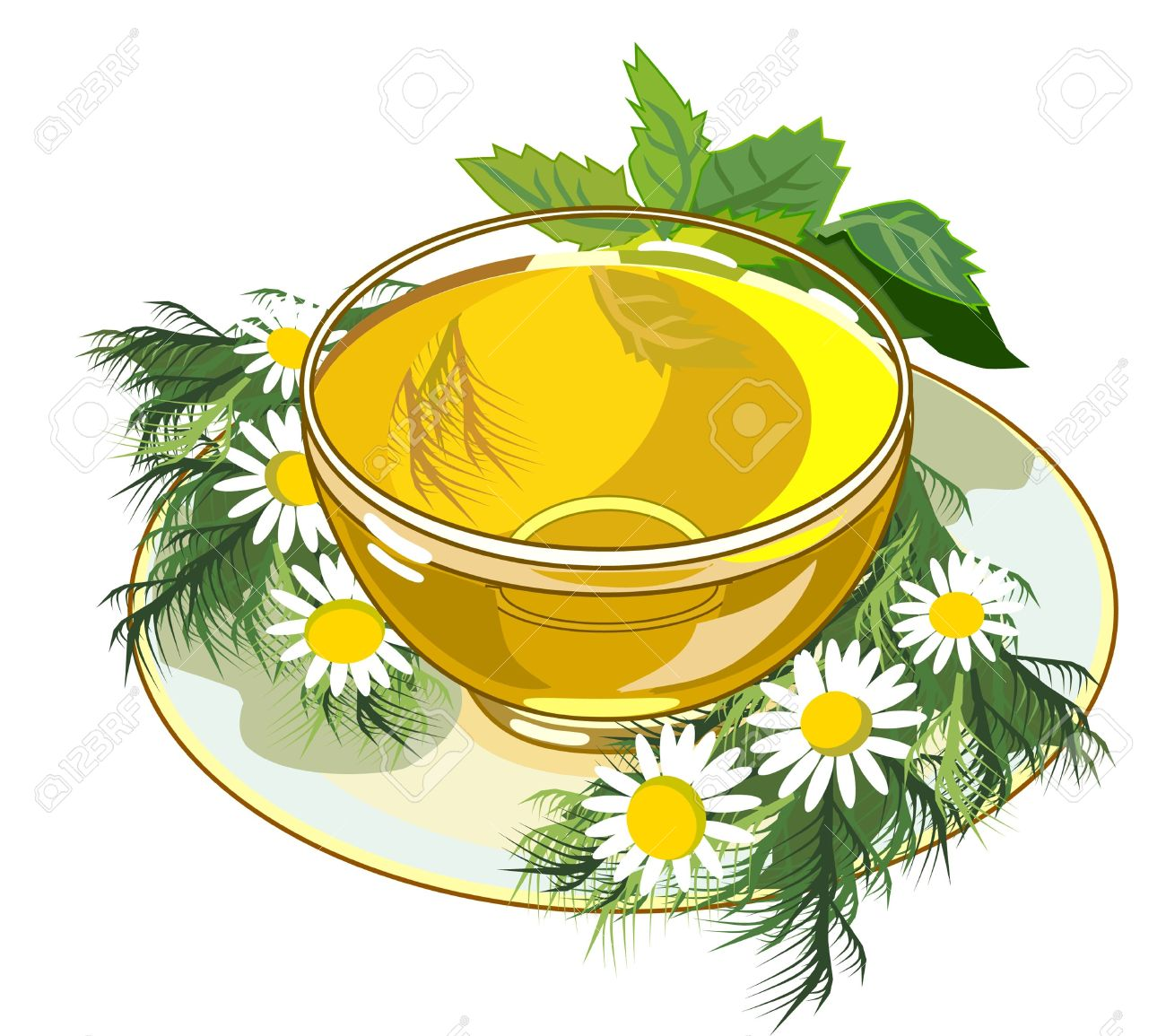 Beautiful Cup Of Herbal Tea Royalty Free Cliparts, Vectors, And.