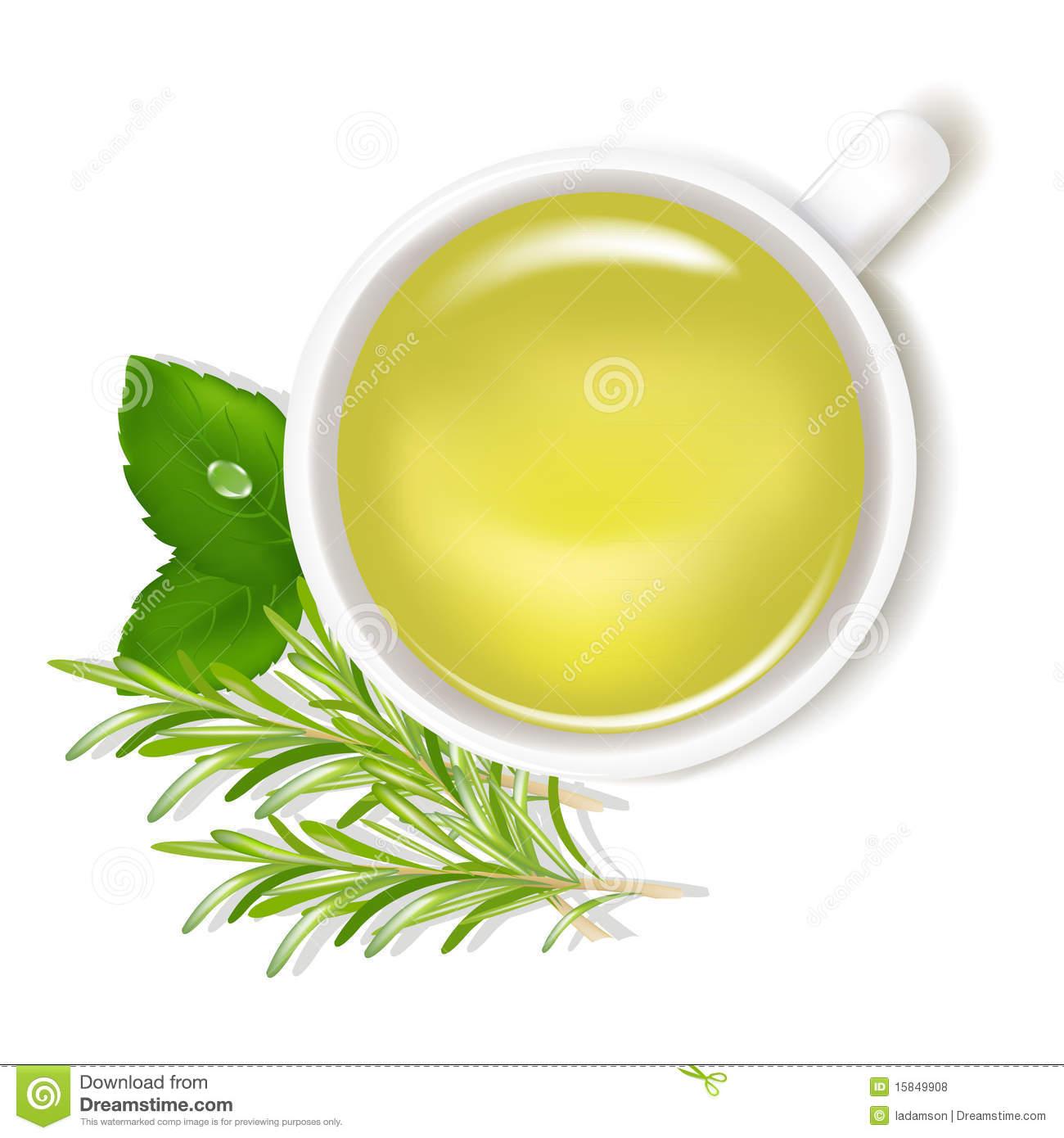Mint Tea Stock Illustrations.