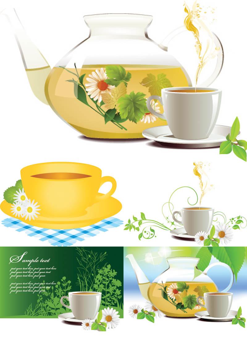 Tea clipart vector.