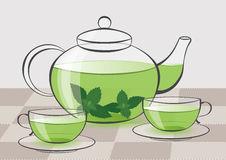 Calming Herbal Tea Stock Illustrations.