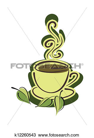 Clipart of Cup of hot herbal tea k12260543.