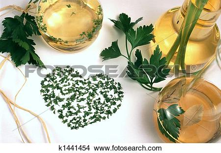 Stock Photo of Vinegar, oil and herbs k1441454.