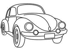 Herbie the love bug zooming clipart.