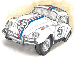 Herbie race car exhaust clipart.
