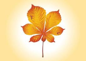Herbstblatt, Clipart.