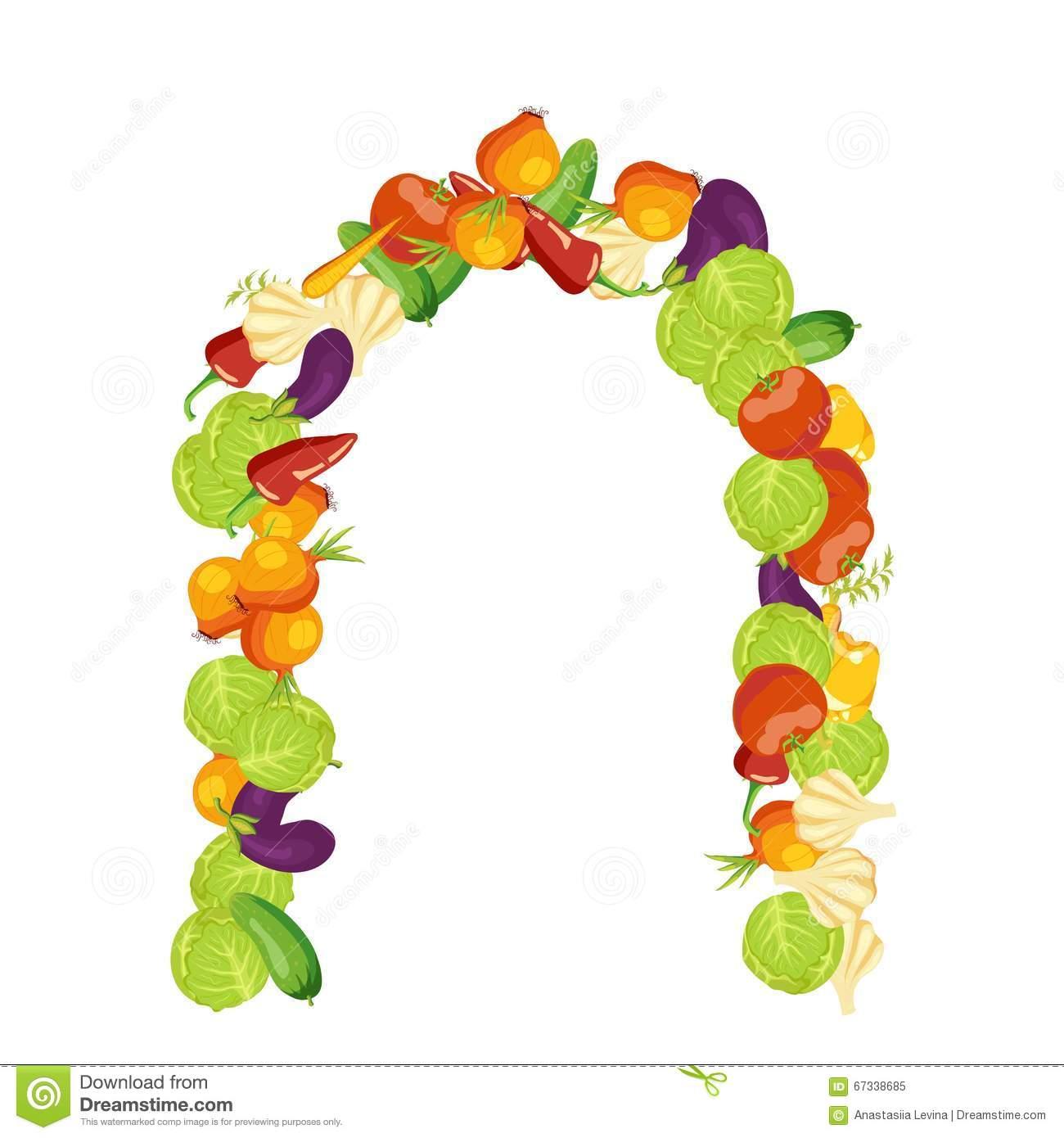 Gemüserahmen Mit Herbststimmung Erntezeitdekoration Vec Vektor.