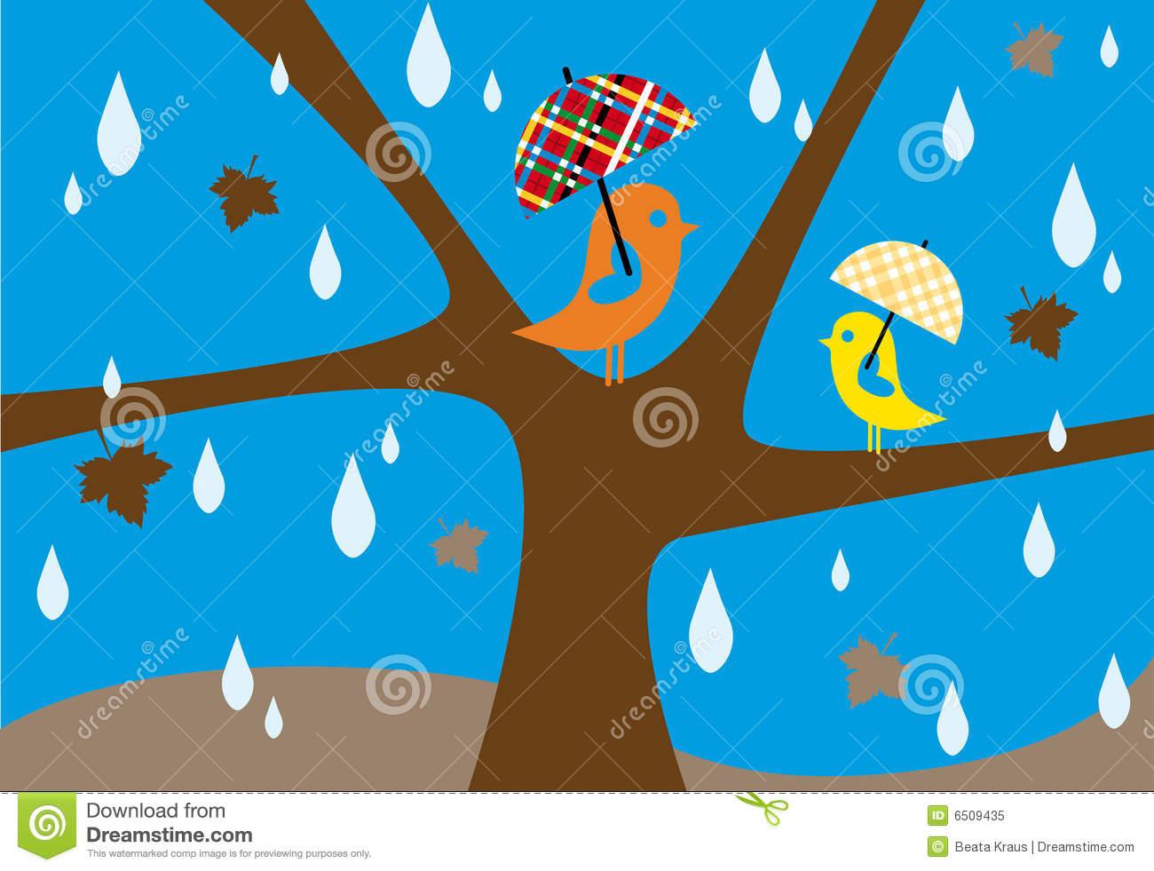 Herbstregen Lizenzfreies Stockfoto.