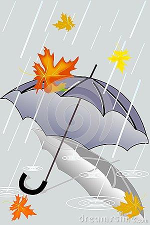 Herbstregen Stock Illustrationen, Vektors, & Klipart.