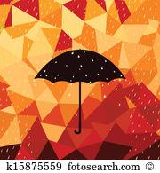 Herbstregen Clip Art Lizenzfrei. 6.386 herbstregen Clipart Vektor.