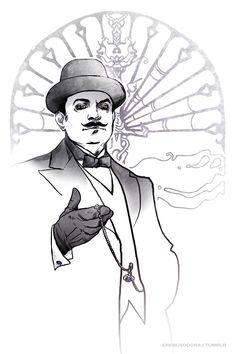 Hercule Poirot and Capt Hastings.