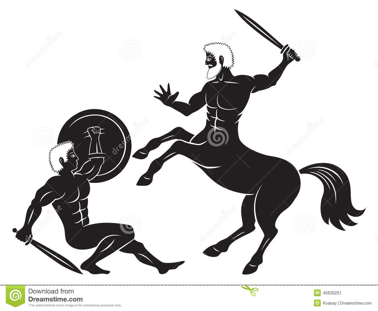 Greek Centaur Stock Vector.