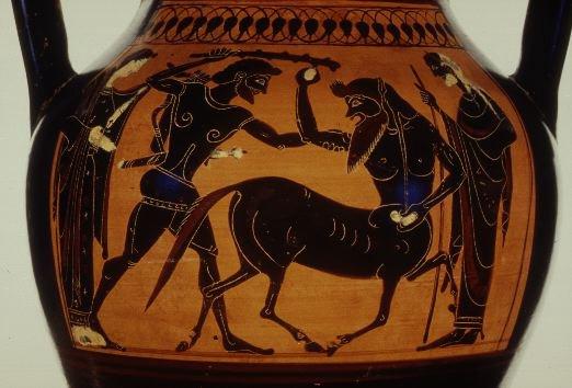 Hercules' Fourth Labor: the Erymanthian Boar.