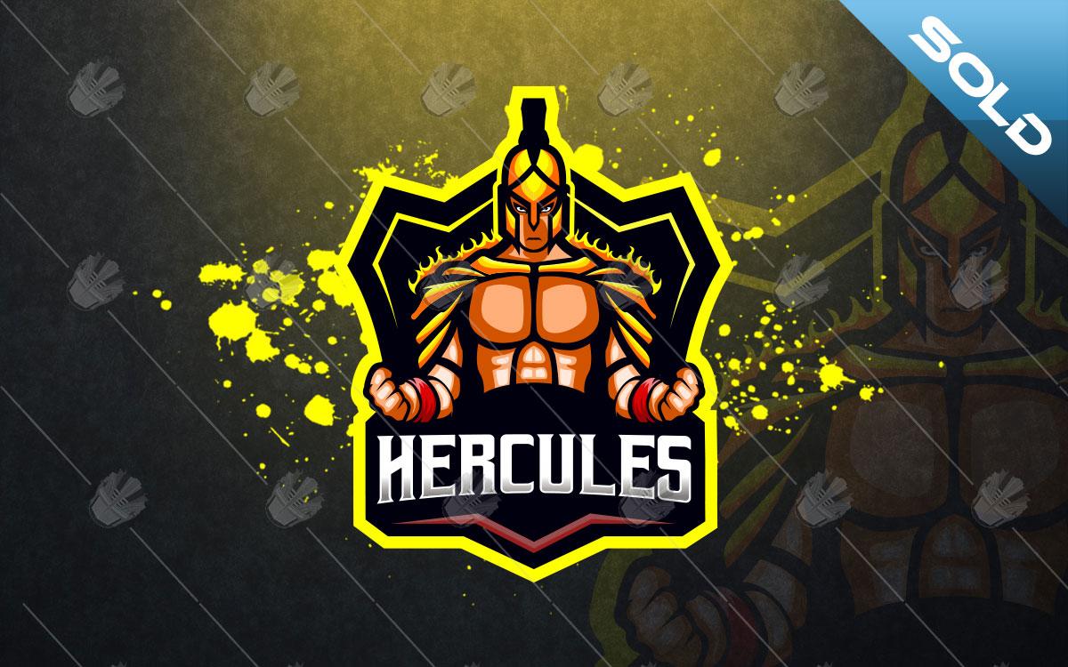 Hercules Mascot Logo Hercules eSports Logo For Sale.