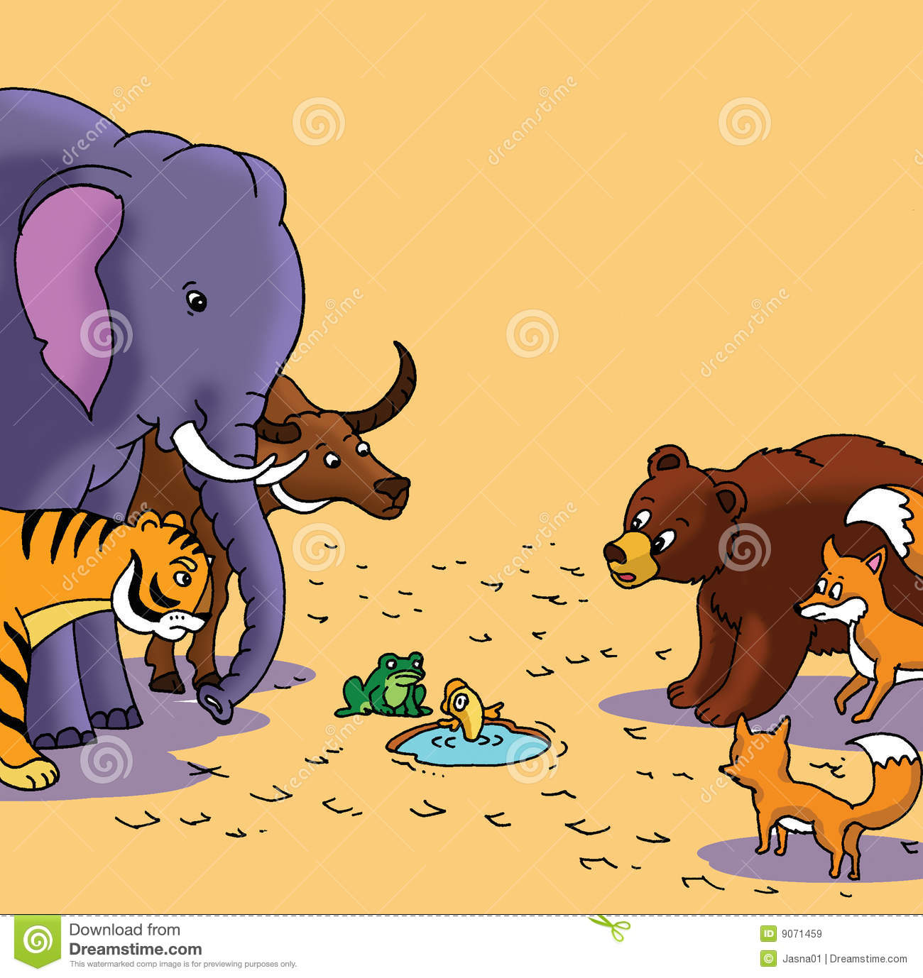 Herd Wild Animals Royalty Free Stock Images.