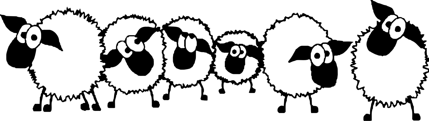 Herding Sheep Clipart.