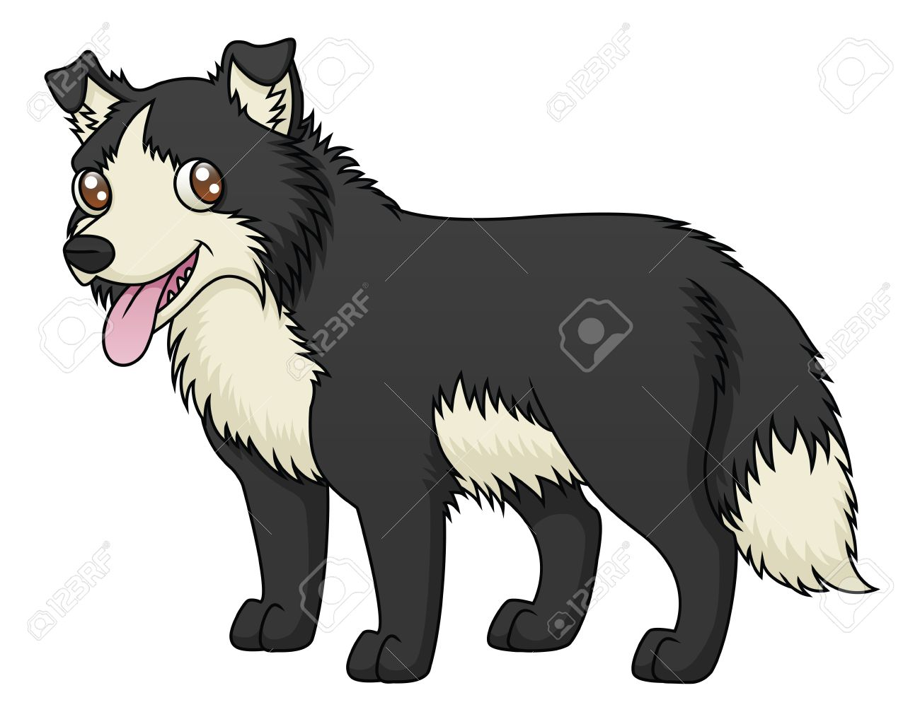 An Illustration Of A Cartoon Sheep Dog Royalty Free Cliparts.