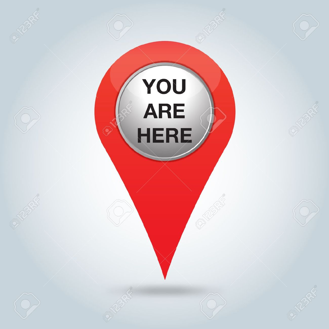 Clipart you are here.