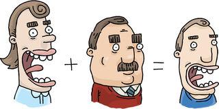 Heredity Combination Stock Illustration.