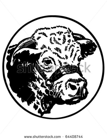 Hereford Bull Head Clip Art.
