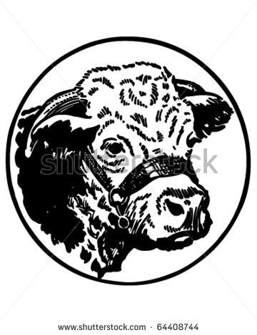 Hereford Bull Head Clip Art.