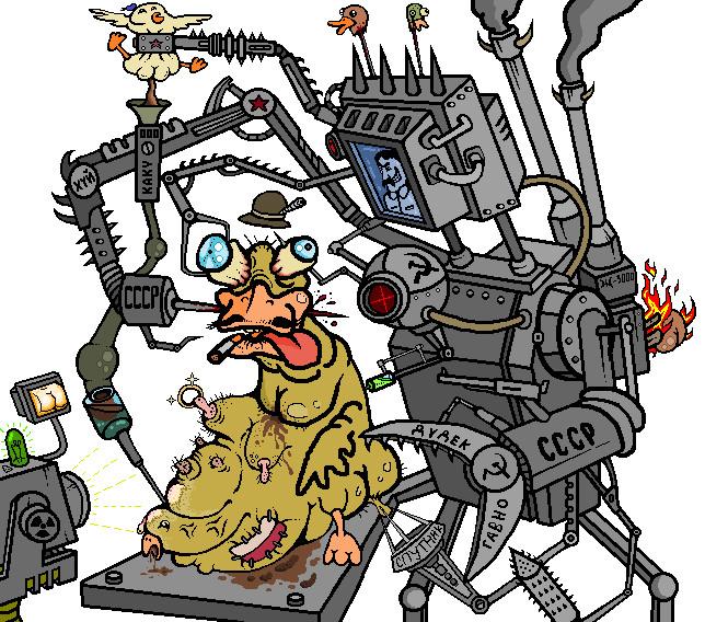 Satanic Soviet Robot Heresies by PolskaKaczka on DeviantArt.