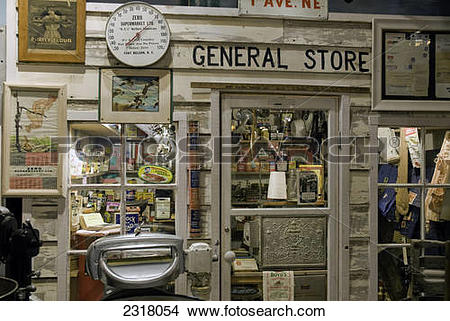 Stock Photo of *General Store* Exhibit Inside The Fort Nelson.