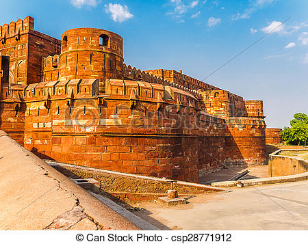 Clipart of Agra Fort, The Unesco world Heritage site, located in.