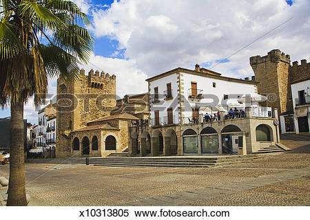 Stock Image of Caceres UNESCO World Heritage Site. x10313805.
