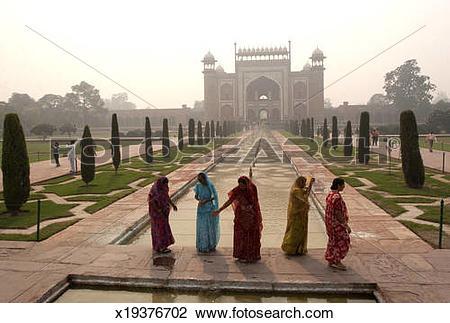 Stock Photo of Taj Mahal,The World Heritage Site in India.