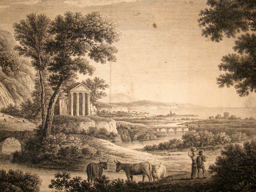 Wilson after Herman van Swanevelt C1750 Landscape Etching.