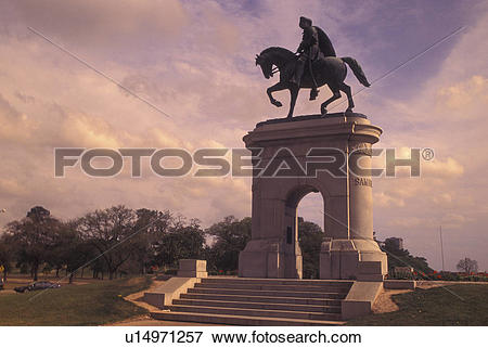 Picture of Houston, TX, Texas, Hermann Park, Sam Houston.