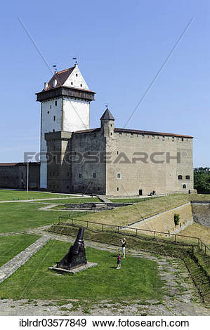 "Stock Photograph of ""Hermann Castle or Hermanni linnus, Narva, Ida."