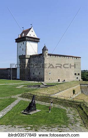 "Stock Photograph of ""Hermann Castle or Hermanni linnus, Narva, Ida."