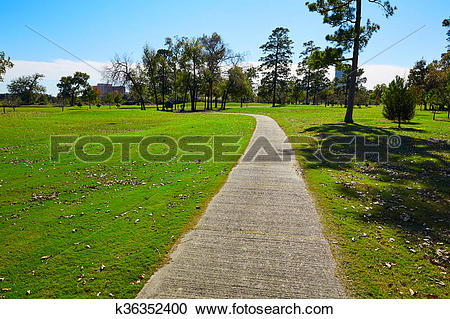 Stock Photography of Houston Hermann park conservancy grass.