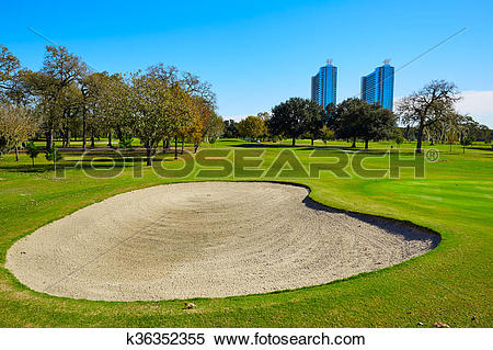 Stock Image of Houston golf course in Hermann park k36352355.