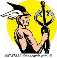 Hermes Clip Art and Stock Illustrations. 90 hermes EPS.