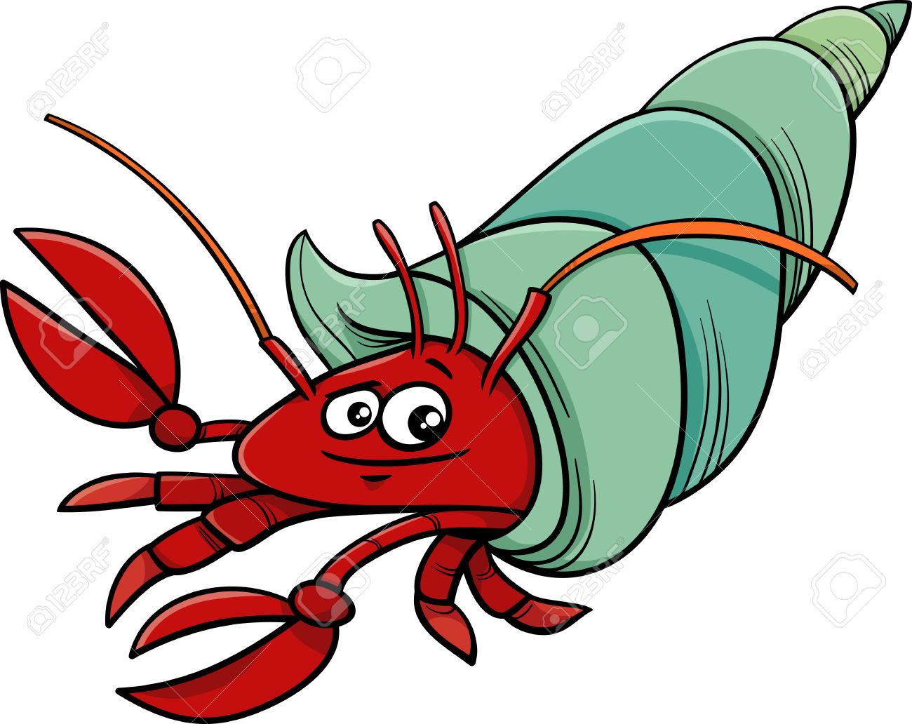 Hermit crab clip art.